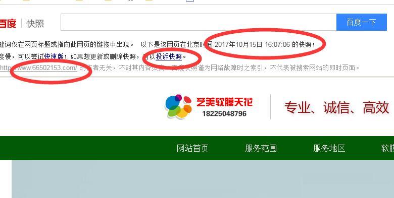 重庆艺美软膜天花网站百度快照时间